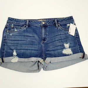 Joe's Jeans Destroyed High Rise Shorts Sz 33 NWT